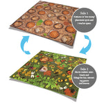 KIT FOR KIDS, BACK TO NATURE(TM) CARPETS, WOODLAND DOUBLE SIDED CARPET, 2000 x 2000mm, Each