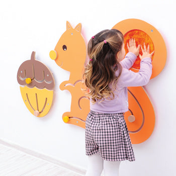 WALL MOUNTED SENSORY PANELS, Squirrel and Nut, Each