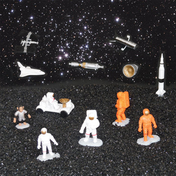 MINI STORY PROMPTS - SPACE FIGURES, Age 3+, Set of 12 pieces