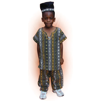 MULTI-ETHNIC DRESSING UP OUTFITS, Boy's West African Buba, Each