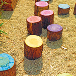 PAINTED LOGS, Set of 5