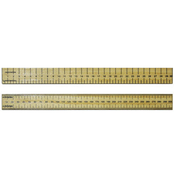 RULERS, HARDWOOD, Double Sided, 30cm, cm/0.5cm, Pack of 50