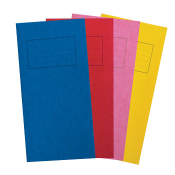 EXERCISE BOOKS, PREMIUM RANGE, EXERCISE BOOKS, PREMIUM RANGE, 8 x 4'' (203 x 102mm), 32 pages, Blue, 8mm ruled/centre vertical rule, Pack of 50