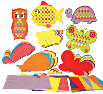 PRIMARY WEAVING SHAPES, Pack of 40