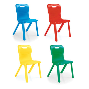 TITAN ONE PIECE CHAIR, Sizemark 1 - 260mm Seat height, Blue
