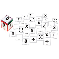 POCKETED DICE, First Play PVC Cube and Cards, 155mm, Set