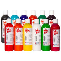 FABRIC PAINT, Fabric Paint Bottles, Pack of 12 x 300ml
