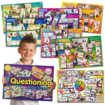 BOARD GAMES, Questioning Skills, Set of 7