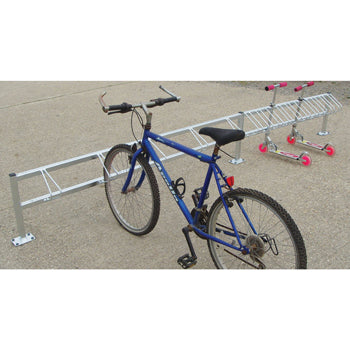 SCHOOL SCOOTER RACKS, Combination Bike & Scooter Racks, 4 Bike & 10 Scooter, 3.3m width, Each