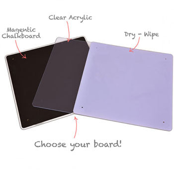 MAKE YOUR OWN EASELS, Step 2 Choose Your Boards, Drywipe Board, 600 x 600mm, Each