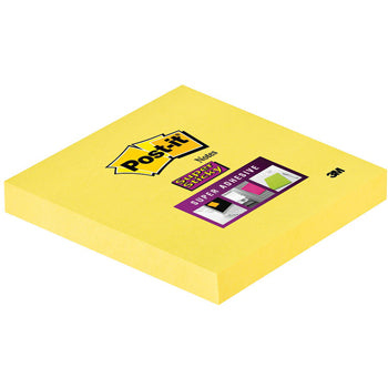 POST-IT(R) SUPER STICKY COLOUR NOTES, Canary(TM) Yellow Square, 76 x 76mm, Pack of 12