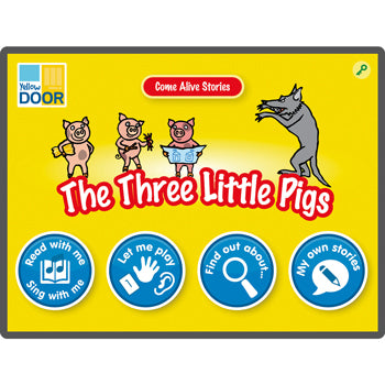 TRADITIONAL TALES APPS, The Three Little Pigs, 6 device licence, Each