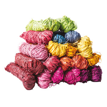 RAFFIA, Assorted Colours, Pack of 20 x 25g