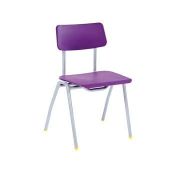 BS CHAIR RANGE, 4 LEG CHAIR, Sizemark 6 - 460mm Seat height, Yellow