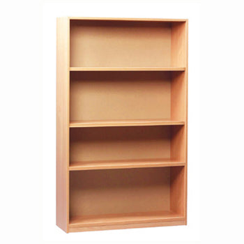CLASSROOM STORAGE, OPEN BOOKCASE, 1 Fixed & 2 Adjustable Shelves, 1500mm height, Beech