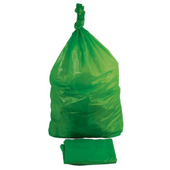 REFUSE SACKS, Oversize, 180 litres, Heavy Duty, Green, Pack of 10