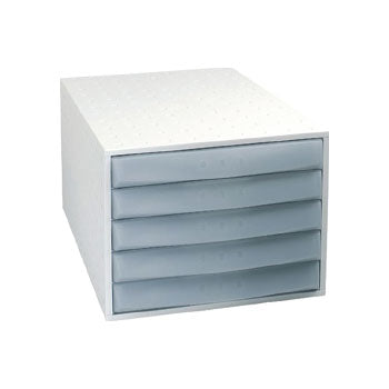 A4 DRAWER TOWERS, 5 Drawer closed front, Grey, Each