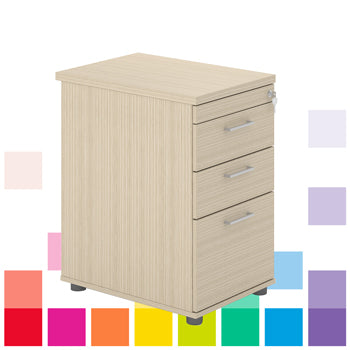 DRAWER UNITS, Desk Height, 600mm depth, Beech, Smartbuy