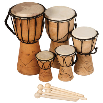 BUDGET DJEMBE PACK, Set of 5