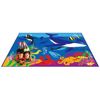 LEARNING RUGS, LUXURY PILE RUGS, Ocean, 2400 x 2000mm, Each