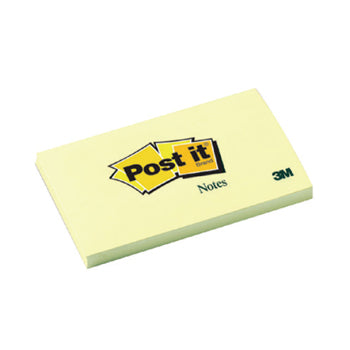 POST-IT(R) CANARY(TM) YELLOW NOTES, Canary(TM) Yellow, 76 x 127mm, 100 Sheets, Pack of 12