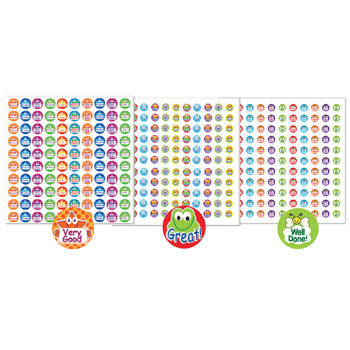 STICKERS, MOTIVATION & REWARD, Mixed Colour, Pack of 726 stickers