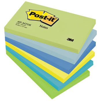 POST-IT(R) COLOUR NOTES, Dream Palette, 76 x 127mm, Pack of 6
