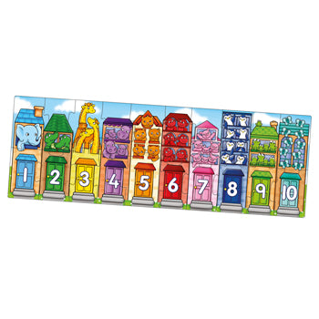 NUMBER STREET PUZZLE, Age 2-5, Set
