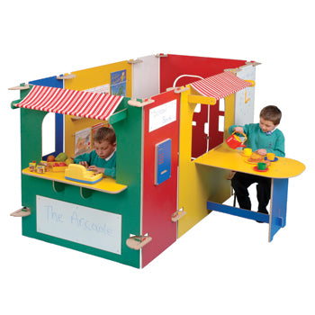 TWOEY TOYS, MAPLE EFFECT & COLOURED PLAY PANEL FURNITURE, Arcade, For Ages 3+, Coloured