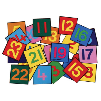 NUMBER MATS, Number Tiles, 250 x 250mm, Set of 24