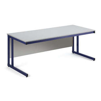 TECHNOLOGY WORKSTATIONS, GREY TOP, 800 x 720mm height, 1200mm width, Red Frame, KLICK TECHNOLOGY
