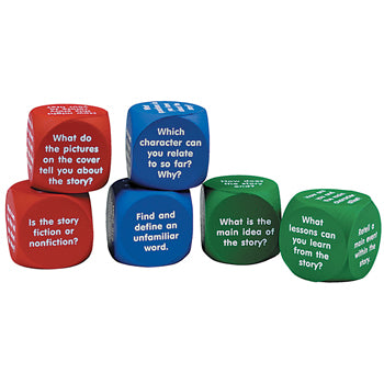 READING COMPREHENSION CUBES, Set of 6