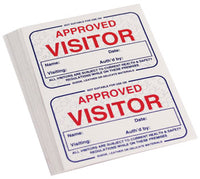 VISITOR'S BADGES, Self-Adhesive, Box of 250