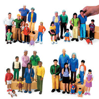 BLOCK PEOPLE, Ethnic Families, Far Eastern People, Set of 8