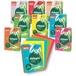 ADAGIO TINTED COPIER PAPER RANGE, VIVID COLOURS, A3  80gsm, Deep Red, Ream of 500 sheets
