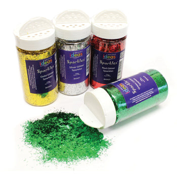 GLITTER SHAKERS, 4 Colour Pack, Pack of 4 x 80g