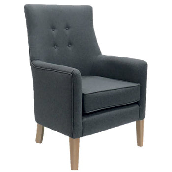AXMINSTER EASY CHAIR, Fabric, Light Grey