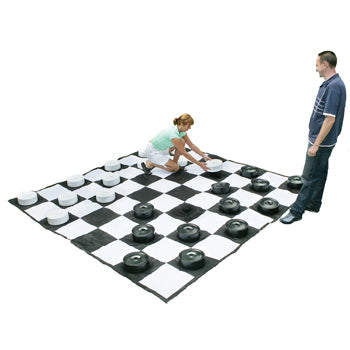 RECREATIONAL GAMES, PVC CHESS & DRAUGHT BOARD, Each