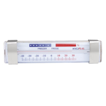 FRIDGE/FREEZER THERMOMETERS, Horizontal, Spirit Fill, Each