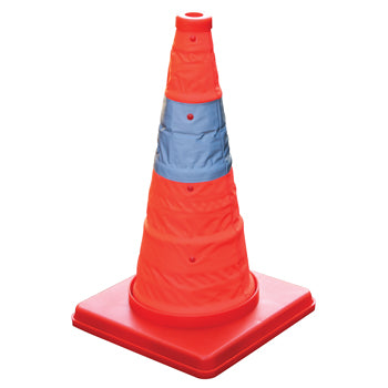 TRAFFIC CONES, Collapsible, Height 420mm, Each