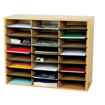 FILING UNITS, LITERATURE SORTERS, 24 Compartments, 740 x 302 x 620mm height