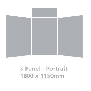 LIGHTWEIGHT FOLD-UP DISPLAY SCREEN, Desktop, 3 Panel Portrait, Grey
