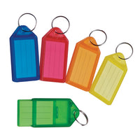 SLIDING KEY FOBS, Medium, Assorted Colours, Pack of 10