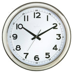 CLOCK, WALL, Chrome 455mm, Each