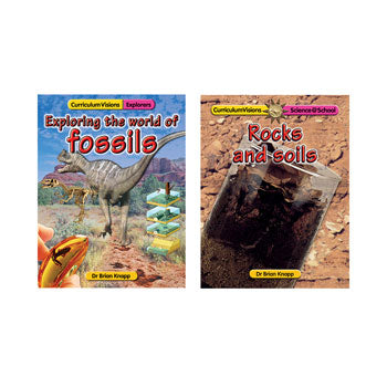 CURRICULUM VISIONS ROCKS & SOILS / FOSSILS, Set of 2