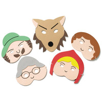 TRADITIONAL STORY MASK SET, Little Red Riding Hood, Set of 5
