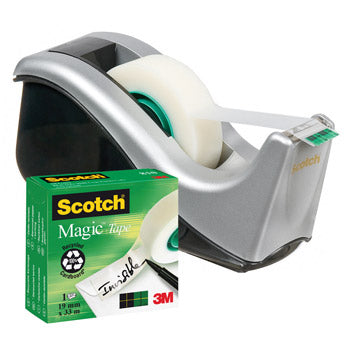 SCOTCH(R) MAGIC(TM) INVISIBLE TAPE, 19mm x 33m, Small Core, Original, Individual Rolls, Each