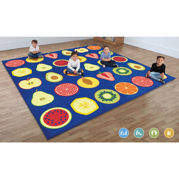 KIT FOR KIDS, BACK TO NATURE(TM) OUTDOOR PLAY MATS, FRUIT RANGE, LARGE SQUARE, 3000 x 3000 x 25mm, Each
