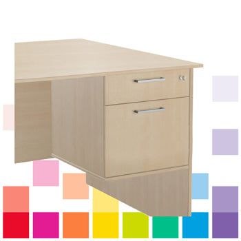 DRAWER UNITS, Fixed, 1 Drawer & 1 Filing Drawer, Beech, Smartbuy