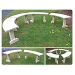 FREESTANDING CURVED BENCHES, Set of 4